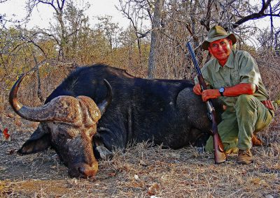 Hunting Cape buffalo in Africa