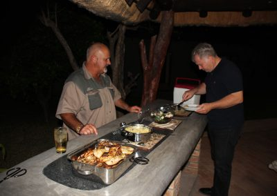 Food to eat hunting lodge Limpopo South Africa