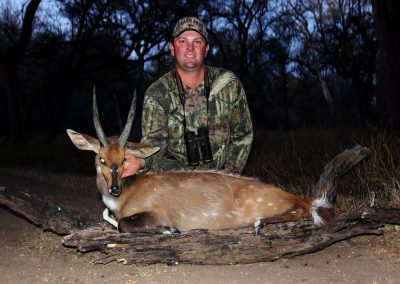 Hunting bushbuck at night