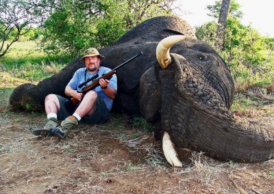 Hunting elephants in Africa