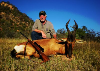 Hunting red hartebeest caliber