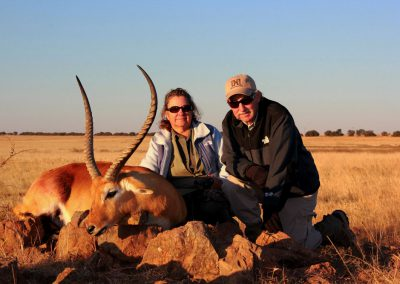 Hunting red lechwe South Africa