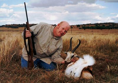 Hunting springbuck in South Africa