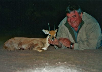Hunting steenbok in Africa