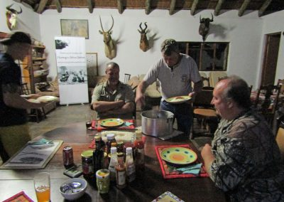 Dinner in hunting camp Africa