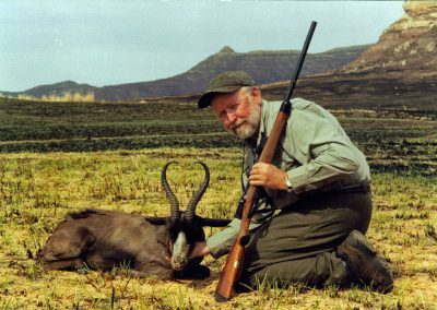 Hunting trophy animals of Africa black springbok
