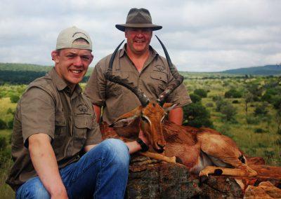Impala hunts South Africa