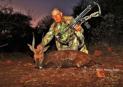 Spiral horn bow hunting grand slam bushbuck