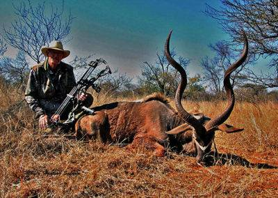 Spiral horn bow hunting grand slam kudu