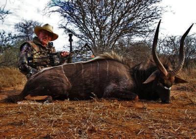 Spiral horn bow hunting grand slam nyala