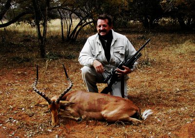 Hunting impala Africa