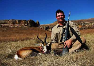 Hunting springbok in the Free State