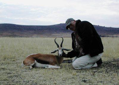 Hunting springbok in the Kalahari
