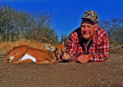 Hunting steenbok in South Africa caliber