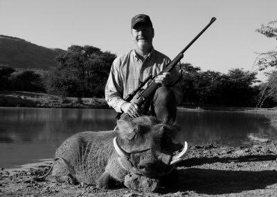 Hunting warthogs in Africa