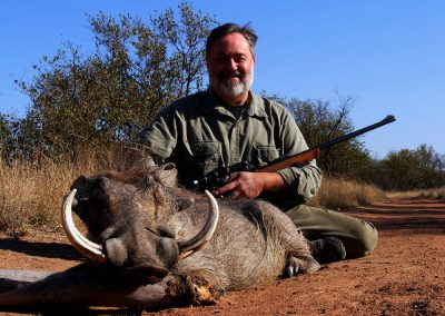 Hunting warthogs in South Africa