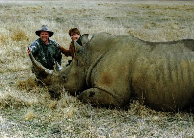 Hunting white rhino in South Africa