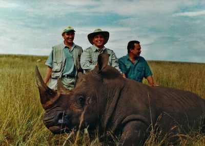 Hunting white rhino South Africa