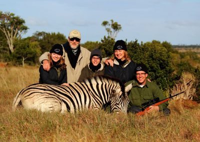 Hunting zebra in South Africa