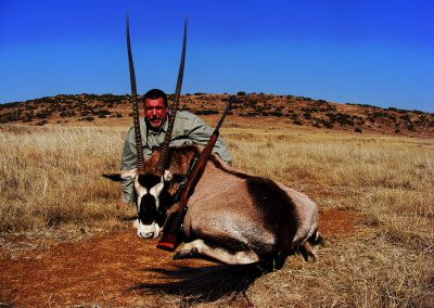 Jagd oryx in sudafrika