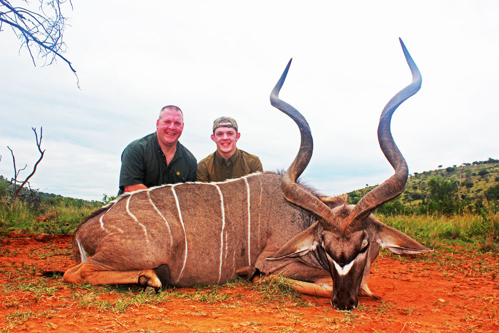 Father and Son hunting in Africa