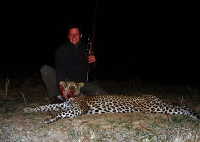 Hunting trophy animals of Africa Big 5 leopard