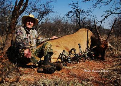 Spiral horn bow hunting grand slam eland