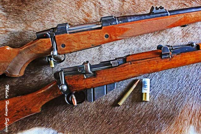 African dangerous game hunting rifles